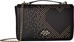Studded Heart Shoulder Bag