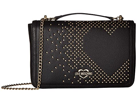 LOVE Moschino Studded Heart Shoulder Bag