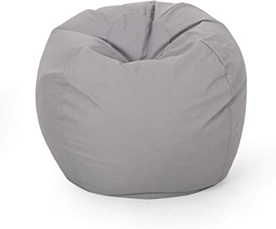 Christopher Knight Home Gwendolyn Modern 3 Foot Bean Bag, Light Gray