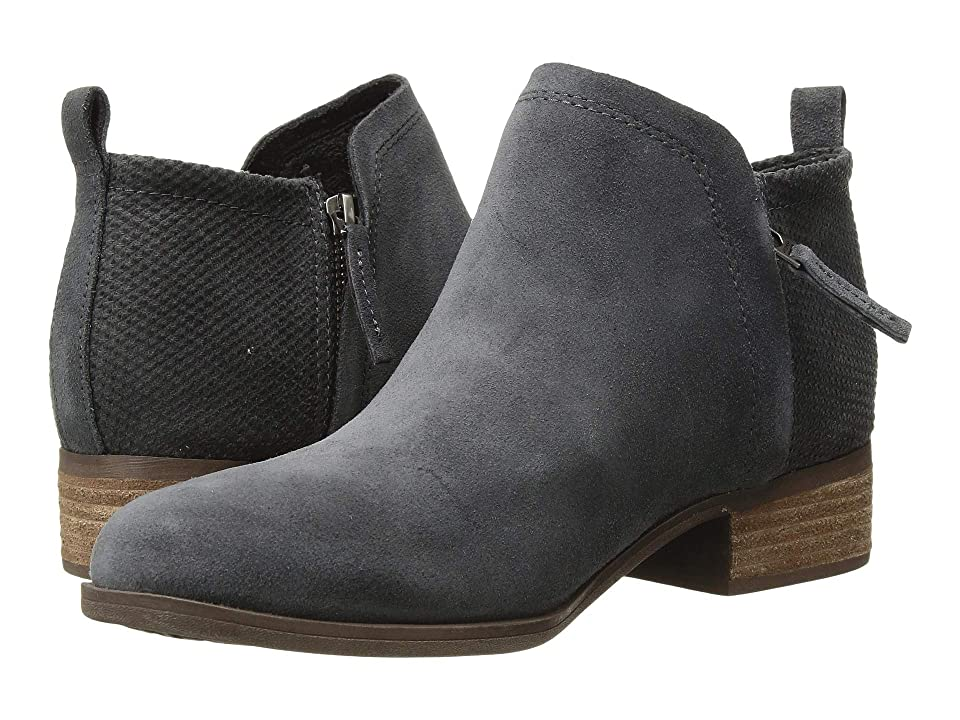 TOMS Deia (Forged Iron Suede/Textured Velour Mix) Women