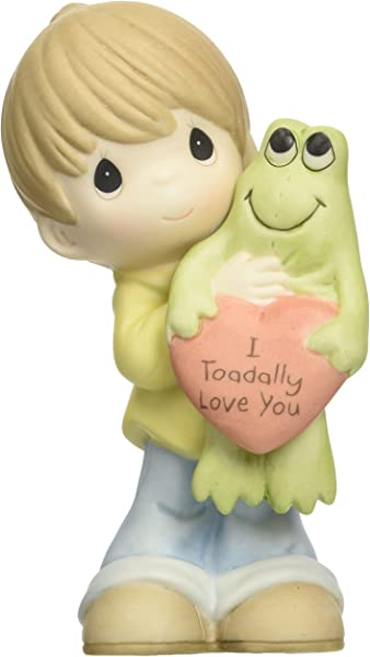 Precious Moments Boy Holding Frog Figurine Porcelain Bisque Figurine 153003