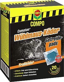 Compo Cumatan Wühlmaus-Köder, Getreidepads, Fraßköder für Köderboxen, 20 Beutel (200 g)