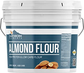 Almond Flour, 1 Gallon Bucket (4 LBS) by Earthborn Elements, Additive & Gluten-Free, Blanched, Ground, Vegan, Paleo & Keto...