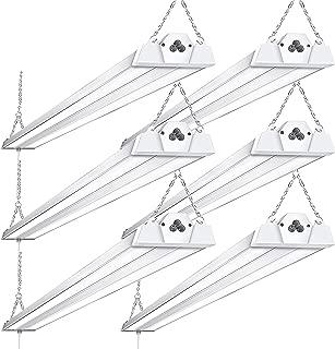 6 Pack Linkable LED Shop Lights for Garage BBOUNDER 4FT 40W 5000K LED Work Shop Light LED Utility Shop Light (300W Equivalent)