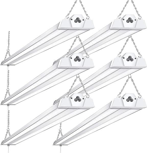 6 Pack Linkable LED Shop Lights For Garage BBOUNDER 4FT 40W 5000K LED Work Shop Light LED Utility Shop Light 300W Equivalent