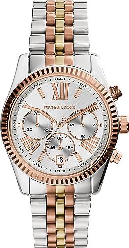 Michael Kors Femme Chronographe Quartz Montre avec Bracelet en Acier Inoxydable MK5735