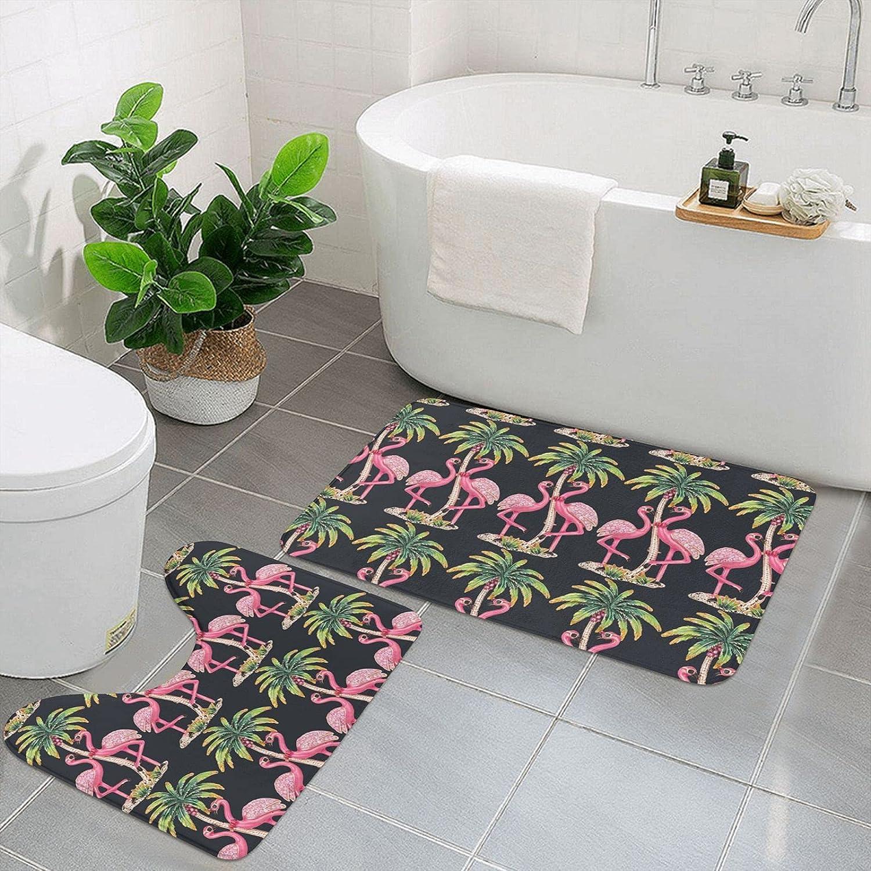 Flamingo Bathroom Carpet Set of Ranking TOP18 Pieces Dedication Soft Absorben 2 Non-Slip