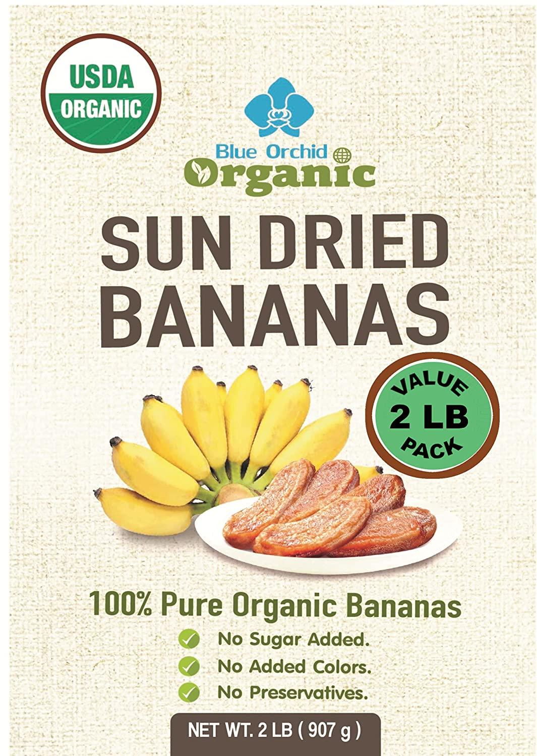 100% USDA Certified sale Organic Sun Dried - Value Bananas Sales of SALE items from new works Pack LB 2
