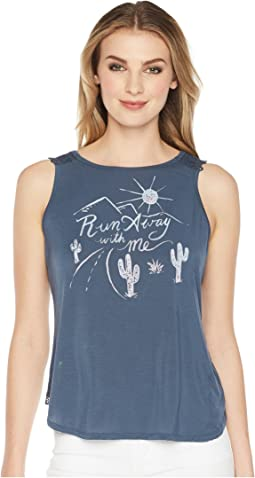 Miss Me - Run Away with Me Lace Back Tank Top