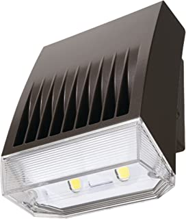 Lumark XTOR8BRL-PC1 Crosstour 81W Carbon Outdoor Integrated LED Wall Pack with Photocontrol 120V Refractive Lens, Bronze