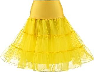 e1f5c11d5b4 MEITM Women s 50s Vintage Rockabilly Petticoat 28   Length Net Tulle  Underskirt Petticoat Half Slip