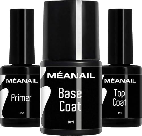 Primer, Base Coat & Top Coat I Manucure Vernis Semi-Permanents I Soin des Ongles I Cruelty Free I Méanail Paris