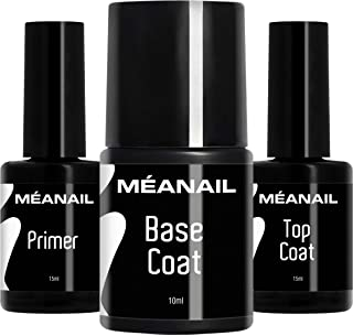 Primer Base Top Coat Permanente Uñas Gel UV LED Manicura Pedicura Ideal para Lampara Secador de Uñas Esmalte Semipermanent...