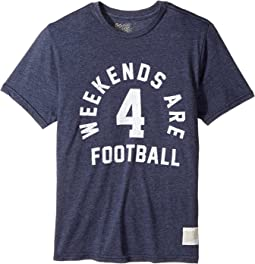 The Original Retro Brand Kids - Weekends Are for Football Short Sleeve Tri-Blend Tee (Big Kids)