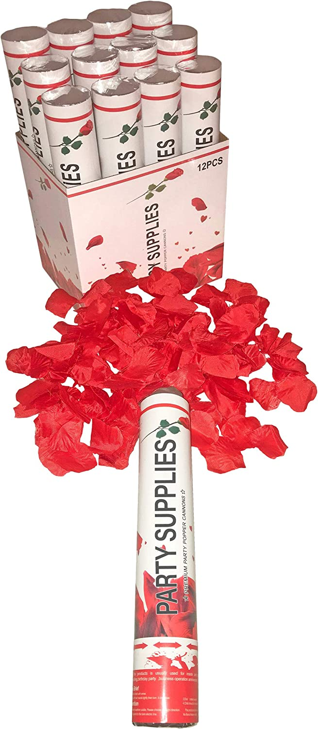 Party Xclusive Red Silk Rose Petals Cannon Celebrate Party Poppe