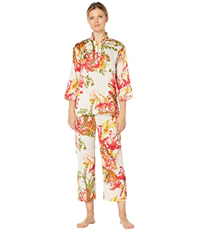 N by Natori Tiger Lily PJ Set (Creme) Women