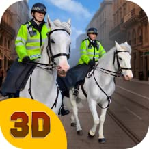 Police Horse Chase Simulator 3D: Horse Ride Police vs Robbers   Chasing Criminals Arresting Game