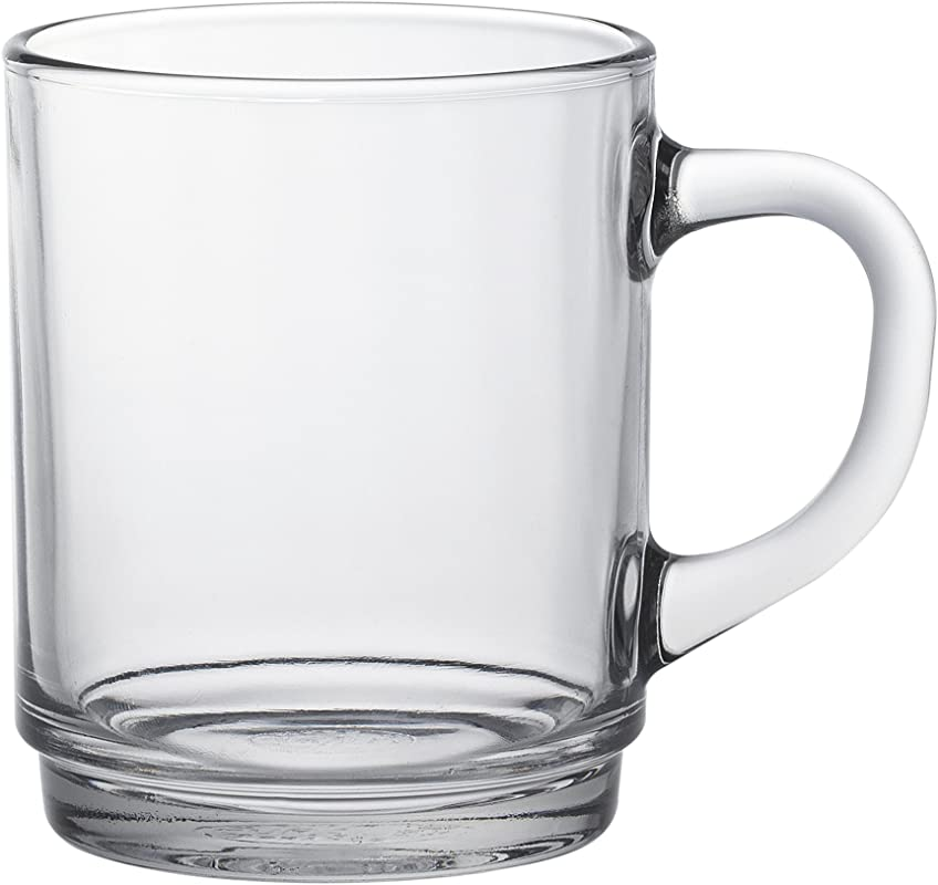 Duralex 4020ar06 Versailles Mugs Set Of 6 Clear Glass 7 Cm
