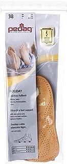 Pedag Holiday 2 Pair 34 Leather Orthotic Thin Semi-Rigid with Metatarsal Pad and Heel Cushion, Tan, US W8EU 38, 4.3 Ounce