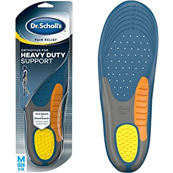Dr. Scholl's Heavy Duty Support Pain Relief Orthotics, Designed for Men over 200lbs with Technology to Distribute Weight and Absorb Shock with Every Step (for Men's 8-14)