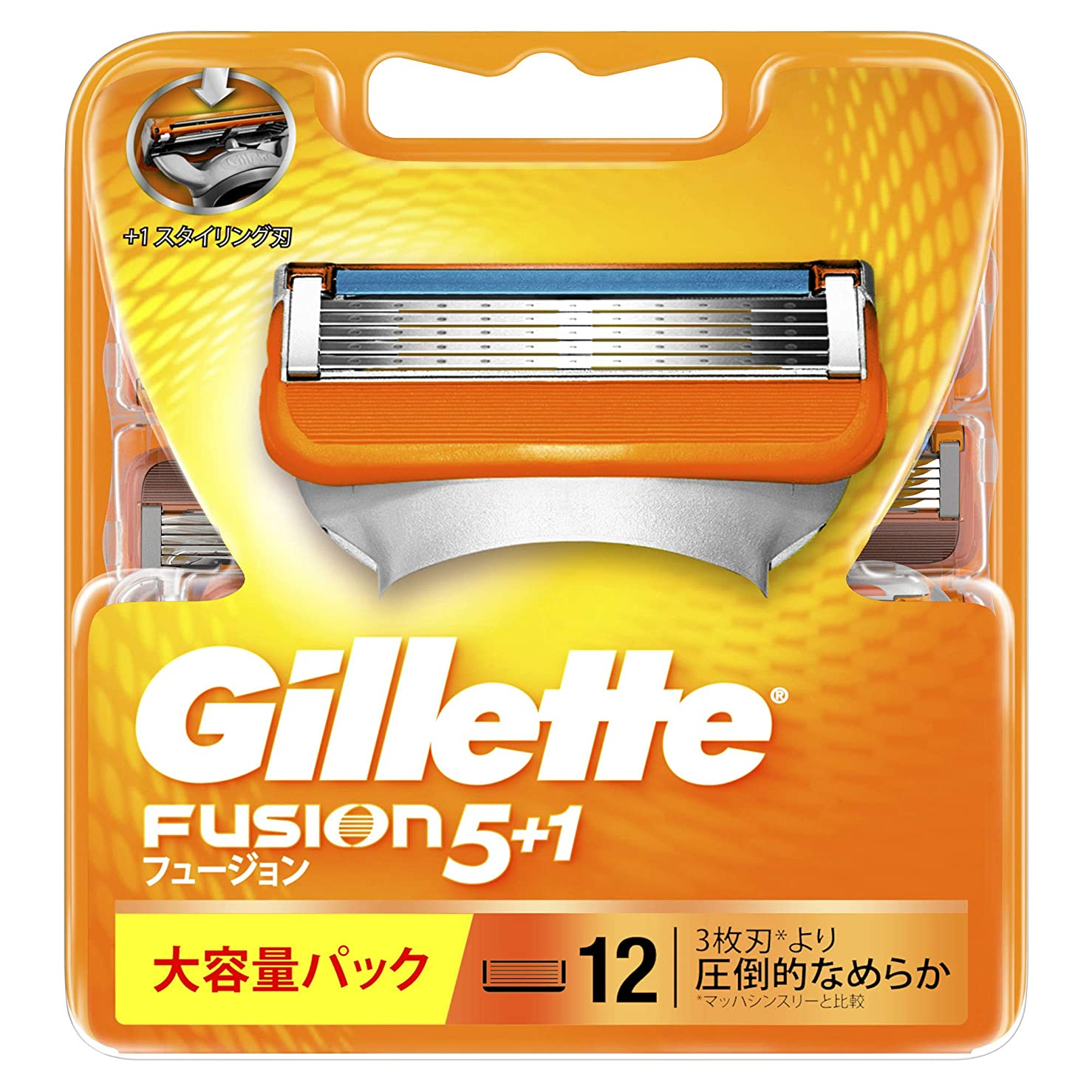 ジーンズ書くパラシュートジレット フュージョン5+1 マニュアル 髭剃り 替刃 12コ入