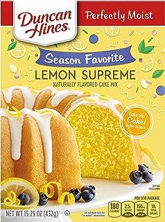 Duncan Hines Cake Mix, Lemon Supreme, 432 gramos. El empaque puede variar