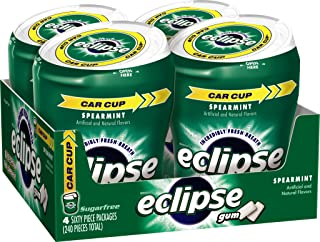 ECLIPSE Spearmint Sugarfree Gum, 60 Count (Pack of 4)