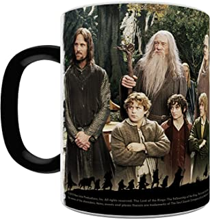 Trend Setters Lord of The Rings (The Fellowship) Heat Activated Morphing Mugs, Black to White