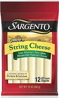 Sargento Snacks Natural String Cheese, Part-Skim Mozzarella, 12 oz, 12-Count