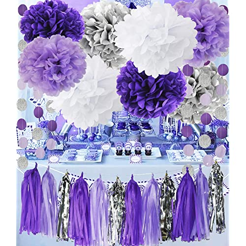 Purple And Silver Wedding Decorations Amazon Com