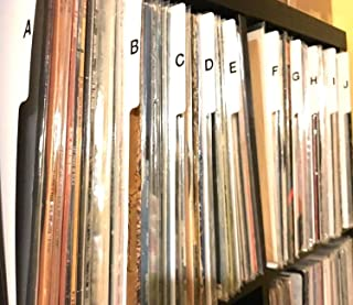 A-Z Vertical Record Dividers w/Lettering on Both Sides Index 12-inch (12-in. 33rpm 33s) 33 LPs Vinyl Album/Organization/Organize A to Z Alphabet Alphabetical Cards