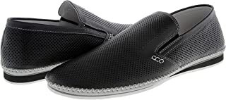 حذاء رجالي من Zanzara بدون رباط حذاء Merz جلدي أسود SZ 11