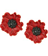 Kate Spade New York - Precious Poppies Statement Stud Earrings