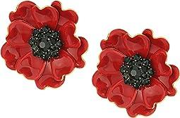 Kate Spade New York - Precious Poppies Statement Stud Earrings