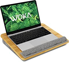"""WOKA Lap Desk - Bamboo Laptop Lap Desk with Pillow Cushion, Fits up to 15.6"""" Computer, Portable..."""