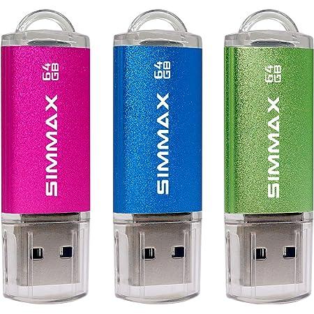 Simmax Usb Sticks 3 Stück 64gb Usb Flash Laufwerk High Computer Zubehör
