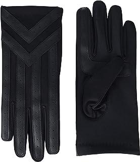 دستکش های آب و هوای سرد لمسی اسپندکس مردانه isotoner با روکش آستین گرم و جزئیات شورون
