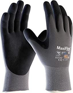 Seamless Knit Nylon / Lycra Glove with Nitrile Coated MicroFoam Grip on Palm & Fingers and AD-APT Technology 42-874/XS, (12)
