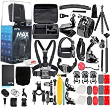 $588 » GoPro MAX 360 Waterproof Action Camera -with 50 Piece Accessory Kit - Camera W/Touch Screen - Spherical 5.6K30 HD Video - 16.6MP 360 Photos - 1080p Live Streaming Stabilization - All You Need