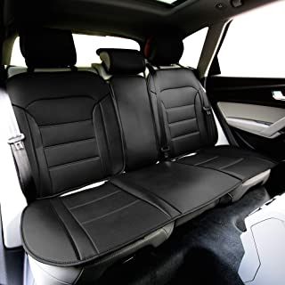 FH Group Black-Rear PU208BLACK013 Futuristic Leatherette Seat Cushions, Color Fits Most Cars, Truck, SUV, or Vans