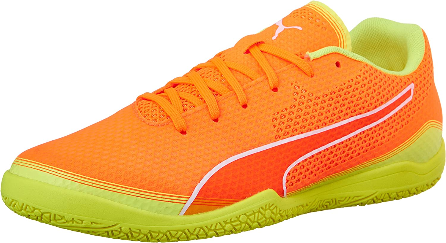 PUMA Men's Invicto Fresh Soccer schuhe, Shocking Orange Weiß Safety Gelb, 10.5 M US B01A8ALIOS  Am praktischsten