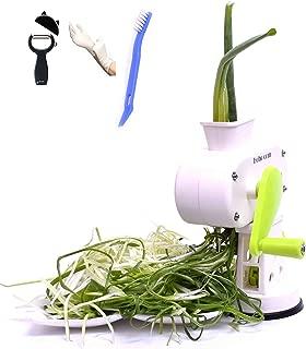 Hoho com Peeler kitchaide chopper Ultra Sharp Cylinders Green Onion Slicer Kitchen Vegetable Cutter (White)/ vegetable Peeler/Cleaning brush/Latex Gloves