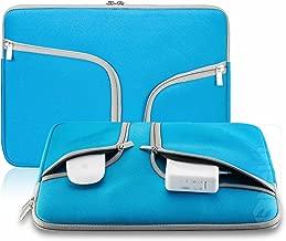 Steklo Laptop Sleeve 13 inch Neoprene MacBook Sleeve Case - Perfect MacBook Sleeve Cover with Pockets for MacBook Pro 13 inch Sleeve and MacBook Air 13 inch Sleeve, Laptop Bag 13 inch - Aqua Blue