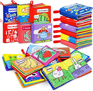 Magicfun Cloth Book Baby, Baby Books Baby's First Soft Cloth Book Set Infant Children Educational Toys Baby Gifts for Boy ...