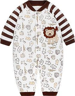 Weihnachtsmotiv Borlai Baby Strampler mit Kapuze Warmer Flanell-Outfit Elch 0-18 Monate