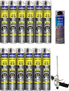 12 Mousses expansives Poliuretano 750 ml para pistola + 1 pistola + 1 limpiador – Calidad