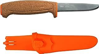 Morakniv Floating Fixed-Blade Serrated Stainless Steel Knife, 3.7-Inch