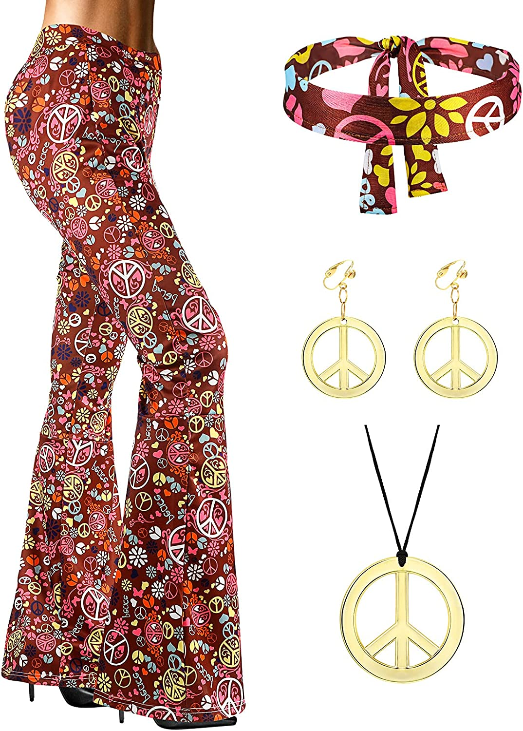 SATINIOR 70s Women New product! New type Hippie Ranking TOP13 Costume Bell Boho Bottom Accessories