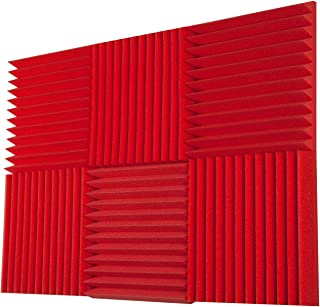 Foamily 6 Pack - All Red Acoustic Panels Studio Foam Wedges 2
