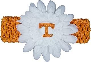 Divine Creations NCAA Tennessee Volunteers Crochet Flower Headband, Orange/White, One Size